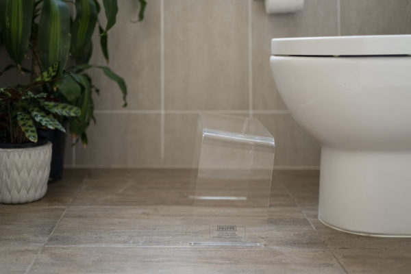 PROPPR Acer Clear Toilet Stool