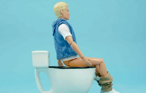How should I sit on the toilet?