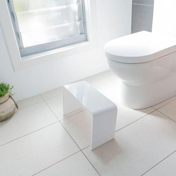 PROPPR® ACER – White toilet squat stool