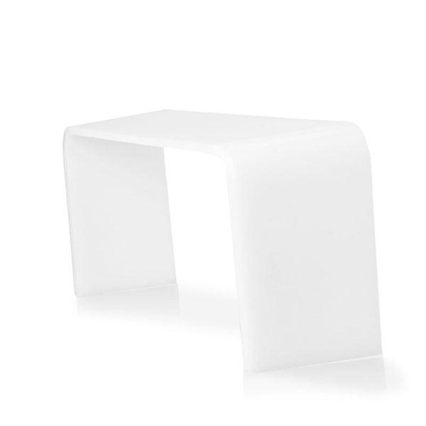 White Acrylic toilet squat stool