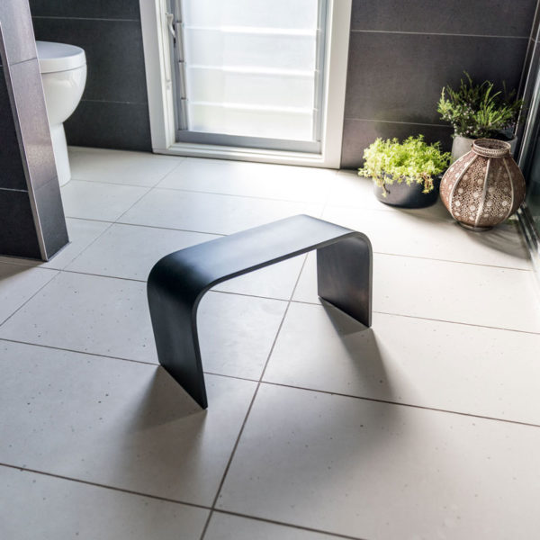 PROPPR® Black timber toilet stool